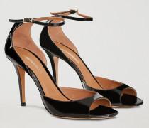 Sandalen Aus Lackleder Mit Absatz