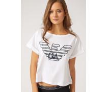 Baumwoll-t-shirt Mit Maxi-logo