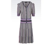 Kleid aus Baumwollmix mit Ballon-Ärmeln