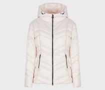 Jacke mit Kapuze und Wattierung aus Wolle