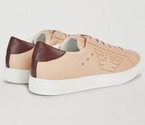 Sneakers Aus Kunstleder Mit Perforiertem Logo