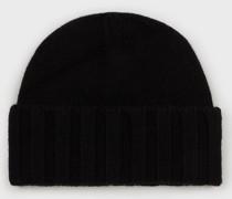 Rippstrick-mütze aus Reinem Kaschmir