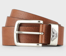 Gürtel aus Leder mit Logo-Schnalle
