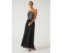 Kleid Mit Pailletten-mieder