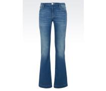 Flare fit Jeans aus Baumwollstretch