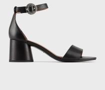 Sandalen aus Leder mit Zylindrischem Absatz