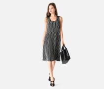 Kleid Aus Verstärkter Baumwolle Mit Punktemuster