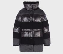 Jacke aus Nylon und Samt