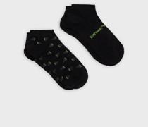 2er-pack Socken mit Jacquard-Logo
