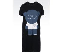 Baumwoll-T-Hemd mit Bärchenaufdruck