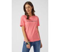 T-shirt Mit Metallic-logo-print