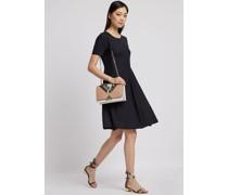 Kleid mit Tellerrock aus Wollfresko
