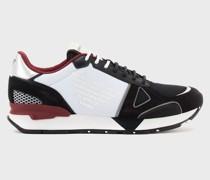 Sneaker aus Nubukleder mit Mesh-einsätzen und Adler an Der Seite