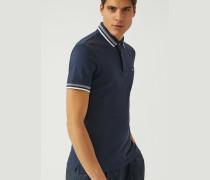 Poloshirt Aus Jersey/baumwollstretch
