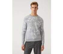 Pullover Aus Floralem Jacquard