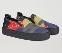 Slip-on Sneaker Aus Mehrfarbigem Kunstleder