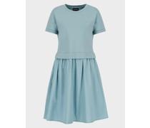 Kleid mit Tellerrock aus Punto-milano-Jersey
