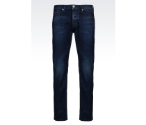 SLIM FIT JEANS IN DUNKLER WASCHUNG