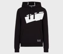 Sweatshirt aus Baumwolle mit Kapuze und Maxi-Logo