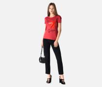 T-shirt Aus Baumwolljersey Mit Bedruckter Vorderseite