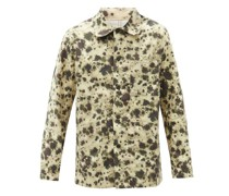 Ink-splatter Cotton-blend Shirt Jacket