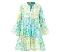 Mirror-work Tiered Gauze Dress