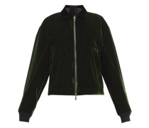 Reversible Velvet And Satin Bomber Jacket
