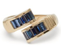 Buckle Sapphire & 14kt Gold Ring