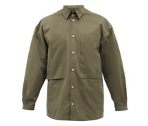 Lineman Patch-pocket Cotton-poplin Shirt