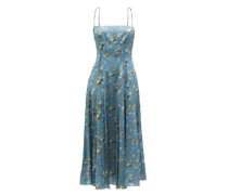 Tyanna Floral-print Silk-crepe Midi Dress