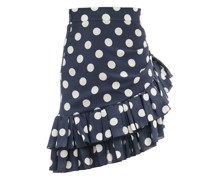 Ruffled Polka-dot Silk-georgette Mini Skirt