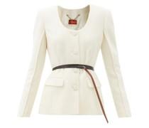 Tamaar Scoop-neck Wool-crepe Jacket