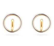 Saturn Blow 18kt Gold-plated Hoop Earrings