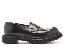 Tread-sole Leather Penny Loafers