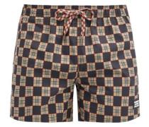 Greenford Checkerboard-print Swimshorts