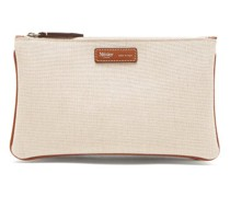 Larger Things Multi-zipped Linen Pouch