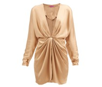 Shibu V-neck Satin Mini Dress