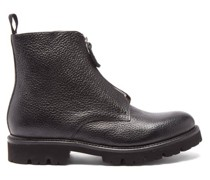 Mortimer Zipped Grained-leather Boots