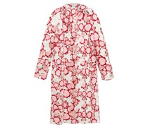 Floral-embroidered Pvc Raincoat