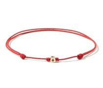 Ruby, 14kt Gold & Cord Bracelet