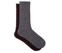 Waddington Pack Of Two Cashmere-blend Socks