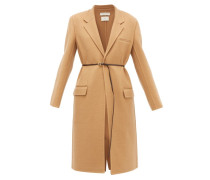 Single-breasted Belted Cashmere Coat