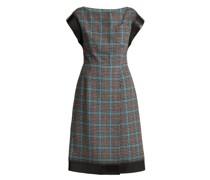 Houndstooth Wool-blend Dress