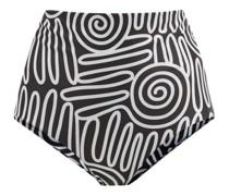Lydia High-rise Squiggle-print Bikini Briefs