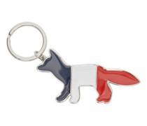 Tricolour Fox Metal Keyring