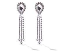 Crystal Drop Clip Earrings