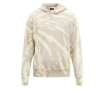Tie-dye Brushed-back Cotton Hooded Sweatshirt