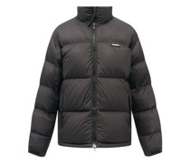 Logo-embroidered Quilted Down Jacket