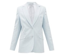 Gelato Striped Cotton-seersucker Jacket