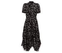 Nuage Polka-dot Fil-coupé Silk-blend Dress